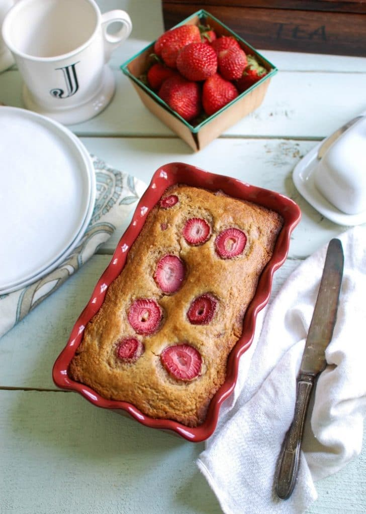 Easy Quick Bread Two Ways- Strawberry Banana and Cheddar Chive - sweet bread