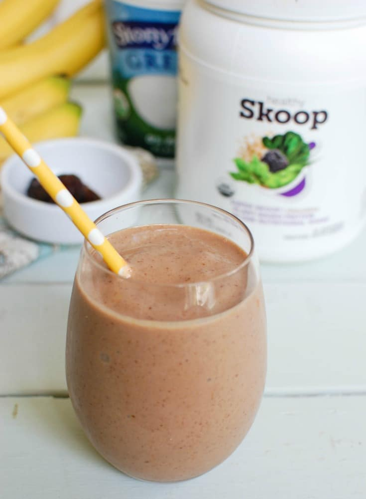 Banana Date Smoothie is creamy and rich. You will think this healthy smoothie is a treat.