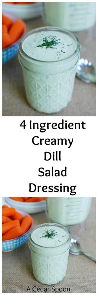 Ingredient Creamy Dill Salad Dressing is so easy to make. Put ...