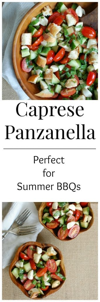 Caprese Panzanella Salad is a light and refreshing summer salad. A favorite at parties!