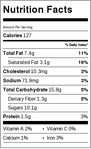 Sea Salt Chocolate Chip Cookies - nutritional information