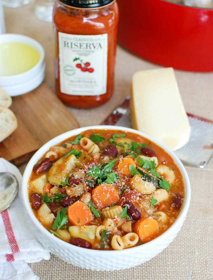 This Homemade Minestrone Soup Recipe is hearty and delicious. Make this for your next dinner.
