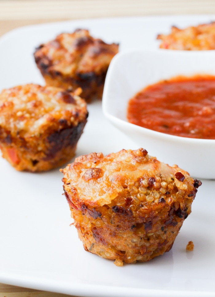 Quinoa Pizza Bites a great lunch or dinner for kids!