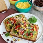 Southwestern Avocado Toast is a great way to wake up. Easy to make and filled with protein.