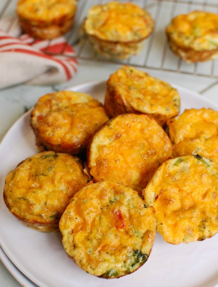 Broccoli Cheddar Cups make a nice breakfast! Packed with protein and calcium these are not only healthy but filling.