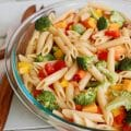 Classic Pasta Salad makes the perfect BBQ side dish. This is simple and packed with flavor.