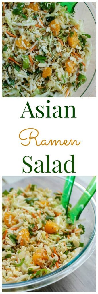 Asian Ramen Noodle Salad is the perfect picnic salad! This is easy to make and a crowd favorite.