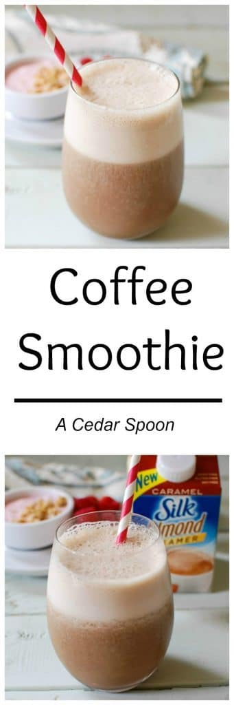 A Coffee Smoothie is the perfect way to start a day or give yourself an afternoon boost. Blend the ingredients together and enjoy!