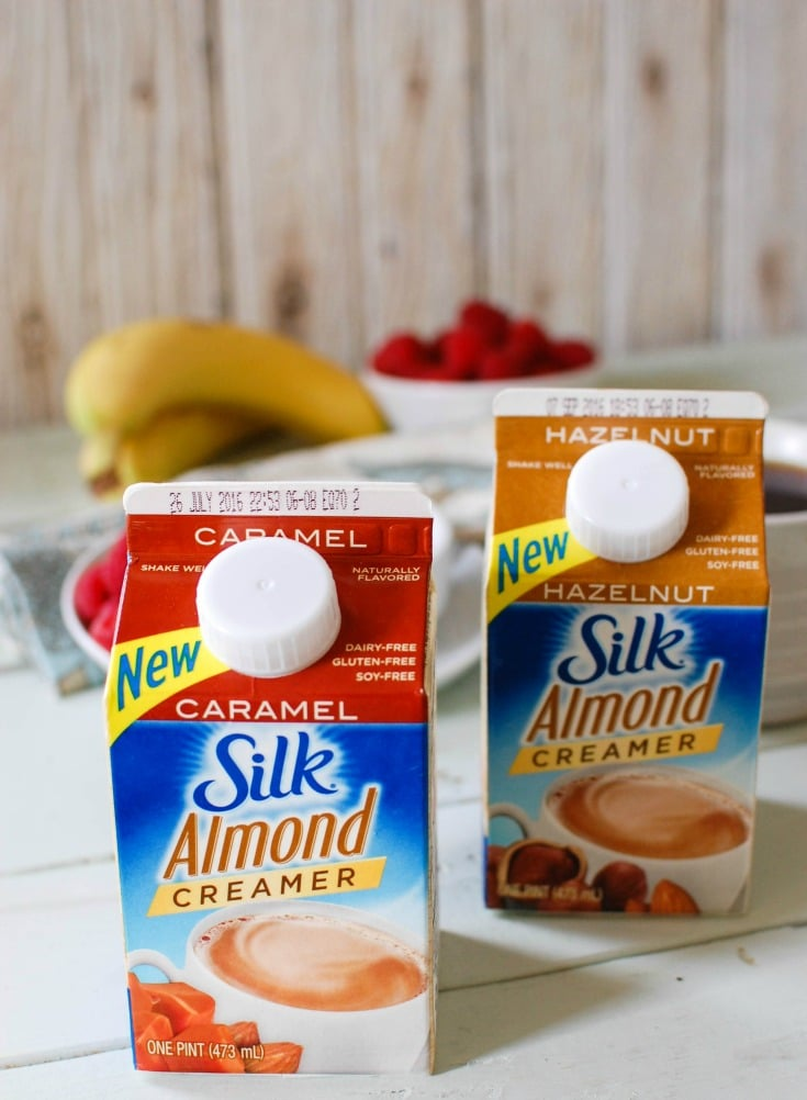 Silk Almond Creamers are gluten-free, dairy free and delicious. A great addition to coffee!