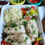 Greek Chicken with Tzatziki Orzo Salad