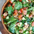 Kale Cucumber Tabbouleh is the ultimate, healthy summer salad. This also works great for a BBQ!