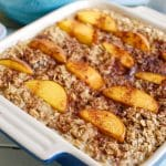 Peaches and Cream Baked Oatmeal is a healthy start to the day. This makes a great snack too!
