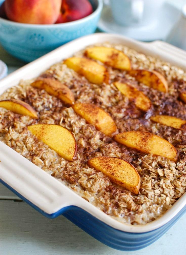 Peaches And Cream Baked Oatmeal A Cedar Spoon
