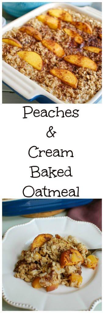 Baby Food Peaches Bake Oatmeal