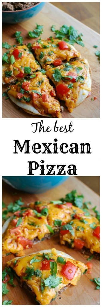 A Mexican Pizza is the perfect back-to-school dinner for your family that is easy to make, packed with flavor and a kid and adult favorite. Packed with protein and calcium, you can feel good putting this meal on your table!