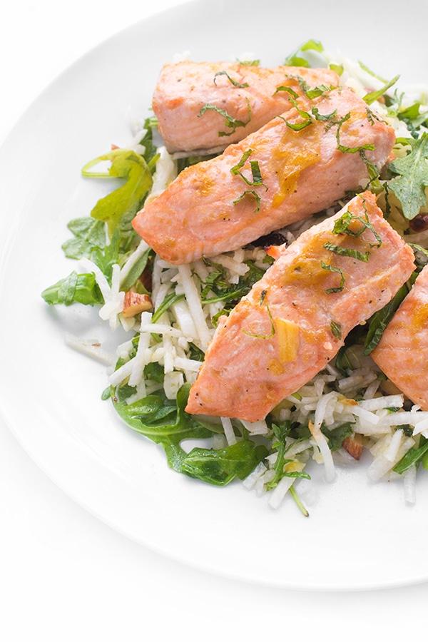 Brown-Sugar-Salmon-with-Jicama-Slaw-a-fresh-and-fast-dinner-recipe