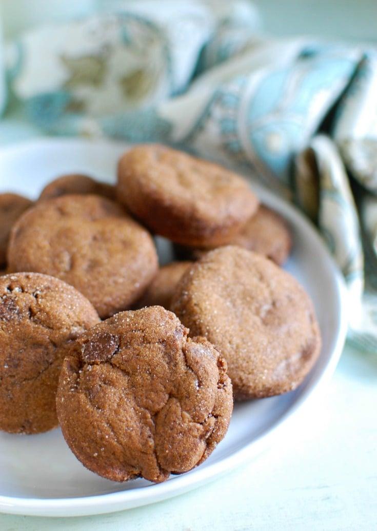 Double Ginger Molasses Cookies - A Cedar Spoon