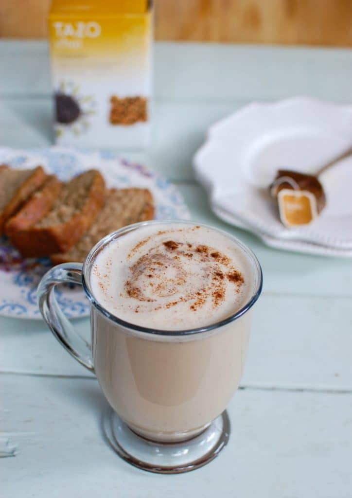 This easy, Homemade Chai Tea Latte is the perfect fall drink to warm you up and keep you cozy. The rich, warm spices of chai tea are made creamy and thick using your favorite milk of choice along with cinnamon, cloves, ginger and nutmeg.