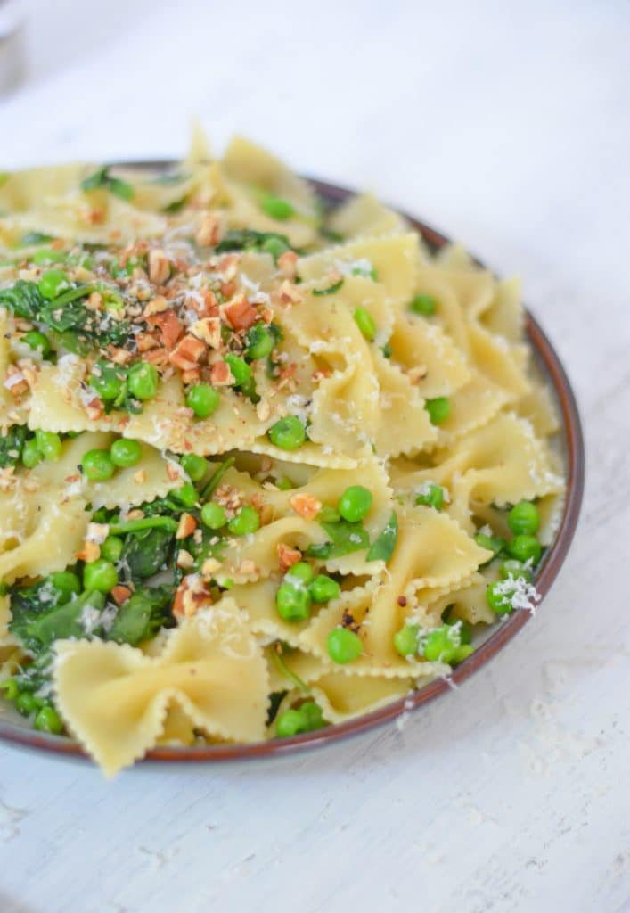 Peas + Pasta - Quick, Easy Dinner Ideas w. Pasta, Peas, Spinach - Luci's Morsels -- Healthy Food Blogger-1