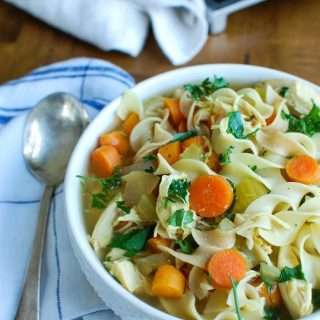 Slow Cooker Chicken Noodle Soup is the perfect comfort soup. This is made in the slow cooker for a quick dinner option!