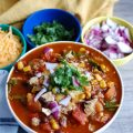 Who doesn't love a great slow cooker chili recipe? This Slow Cooker Turkey Kale Chili will warm your family up in the colder months and makes the perfect game day meal.