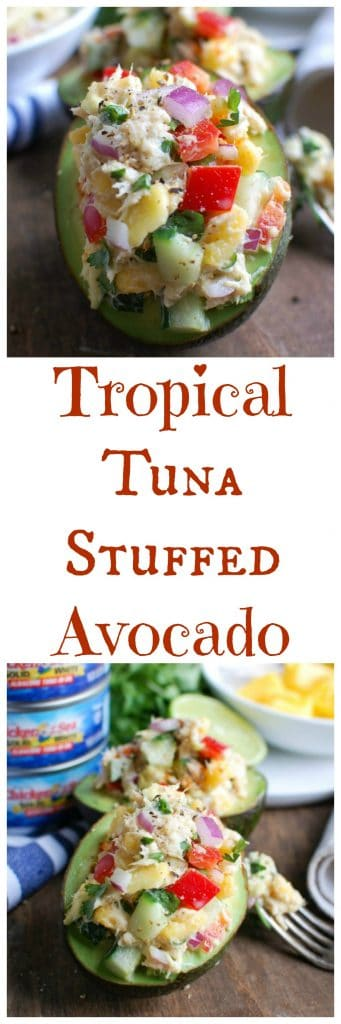 Tropical Tuna Stuffed Avocado
