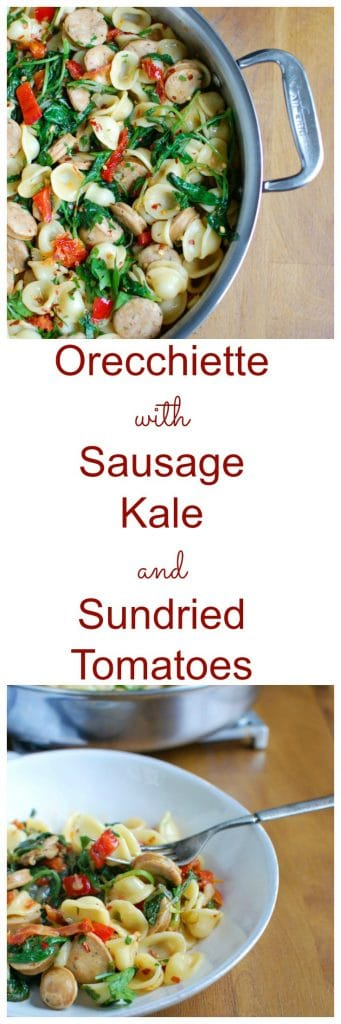 Orecchiette with Sausage Kale and Sundried Tomato is a 20 minute pasta ...