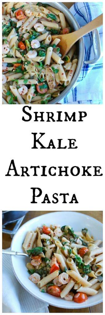 Shrimp Kale Artichoke Pasta
