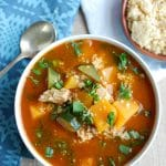 Moroccan Butternut Chicken Soup