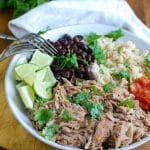Slow Cooker Cuban Pork Rice Bowls