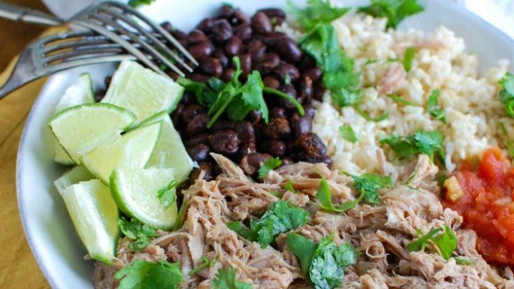 Slow Cooker Cuban Pork Rice Bowls