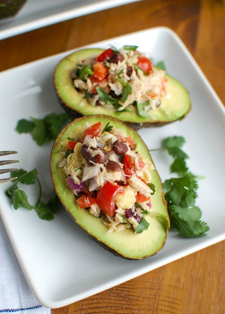 Mexican Tuna Stuffed Avocados - A Cedar Spoon