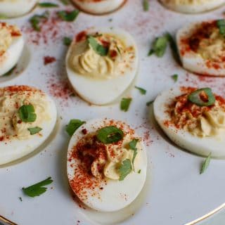 Southwestern Greek Yogurt Deviled Eggs