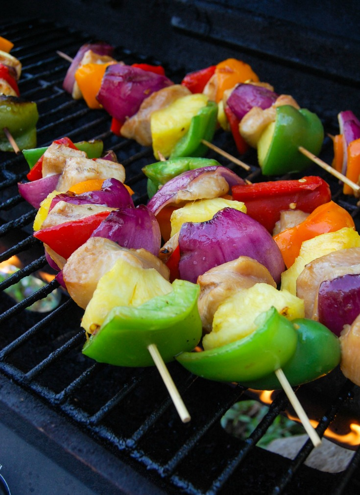 Hawaiian Chicken Kebobs