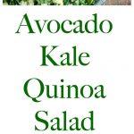 Avocado Kale Quinoa Salad collage