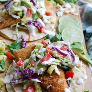 Easy Fish Tacos with Spicy Pineapple Salsa