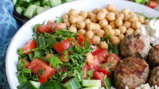 Mediterranean Baked Turkey Meatballs