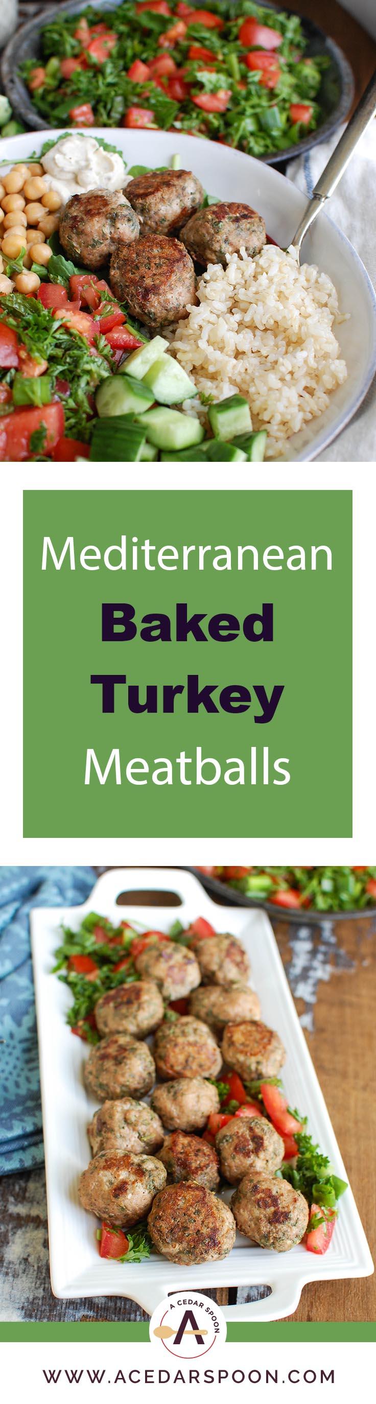 mediterranean baked turkey meatballs a cedar spoon