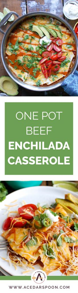 One Pot Beef Enchilada Casserole