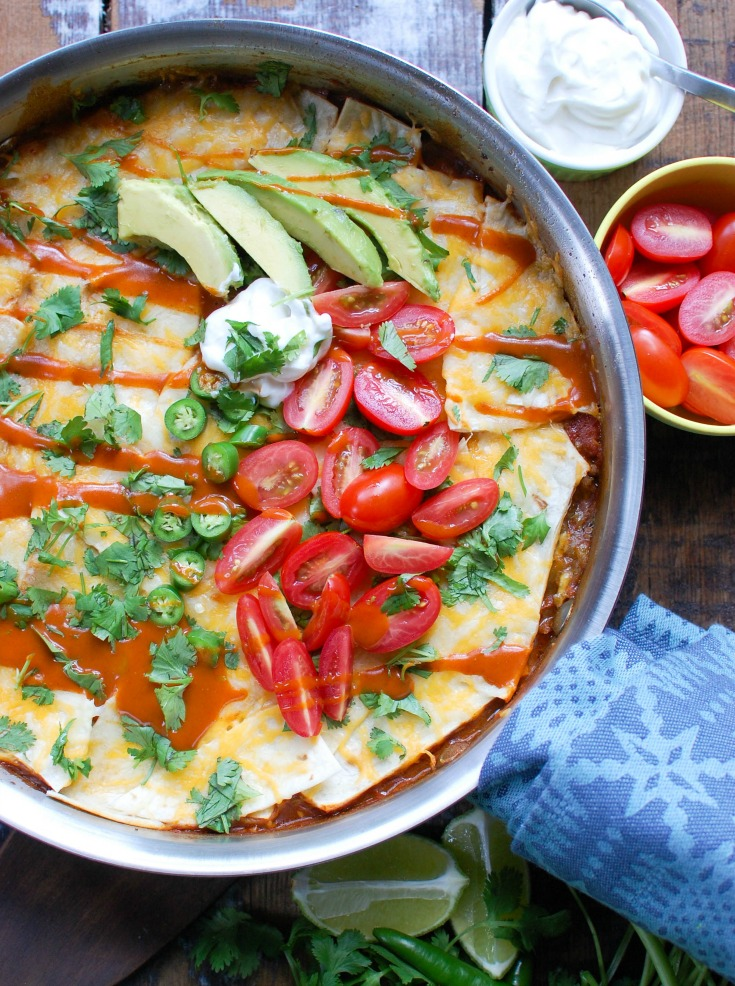 One Pot Beef Enchilada Casserole Cooks In One Pot To Make The Perfect Quick And Easy