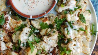 Za'atar Roasted Cauliflower with Yogurt Tahini Sauce