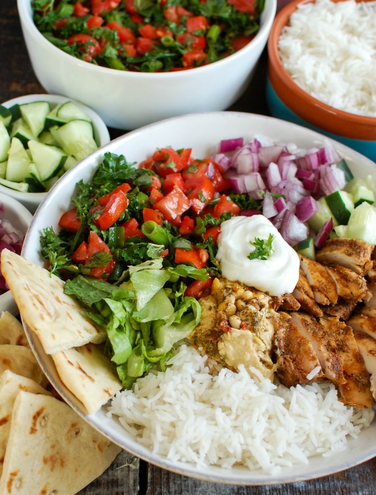 Chicken Shawarma Recipe in bowl