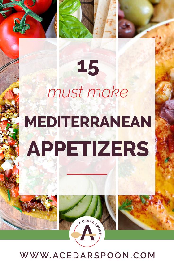 15 Must Make Mediterranean Appetizers logo