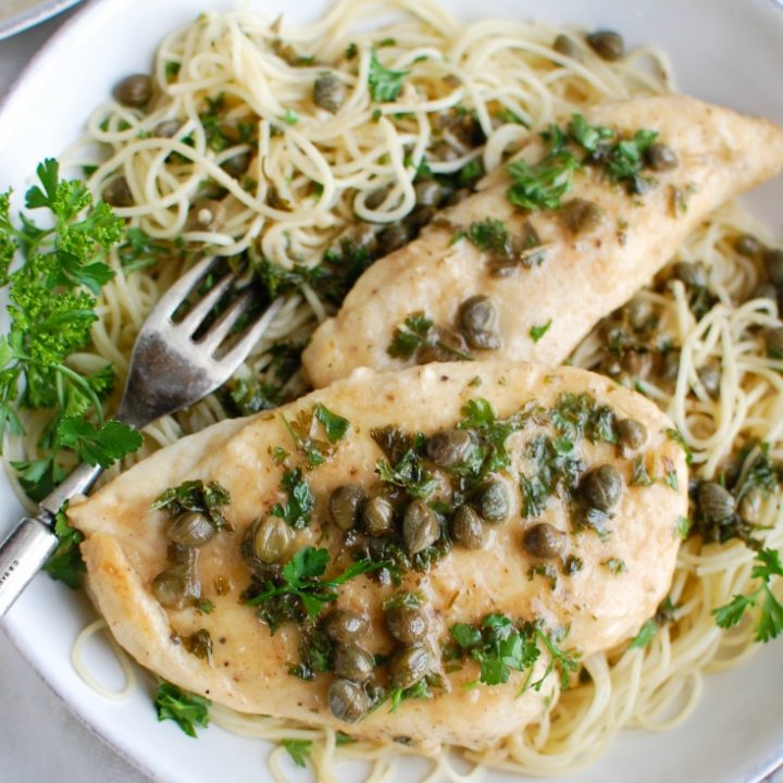 Chicken Piccata with parsley