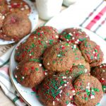 Gluten-Free Chocolate Snickerdoodles make a wonderful holiday cookie for a party or a cookie exchange. If you like snickerdoodles you have to try this gluten-free chocolate version made festive with sprinkles for the holidays.