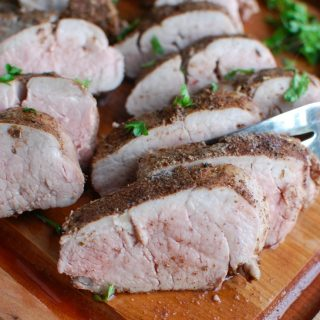 Mediterranean Baked Pork Tenderloin is tender, juicy and full of flavors from the Mediterranean. Pork tenderloin is rubbed with a warm Mediterranean spice mixture and baked to perfection. This is an easy weeknight meal the whole family will love!
