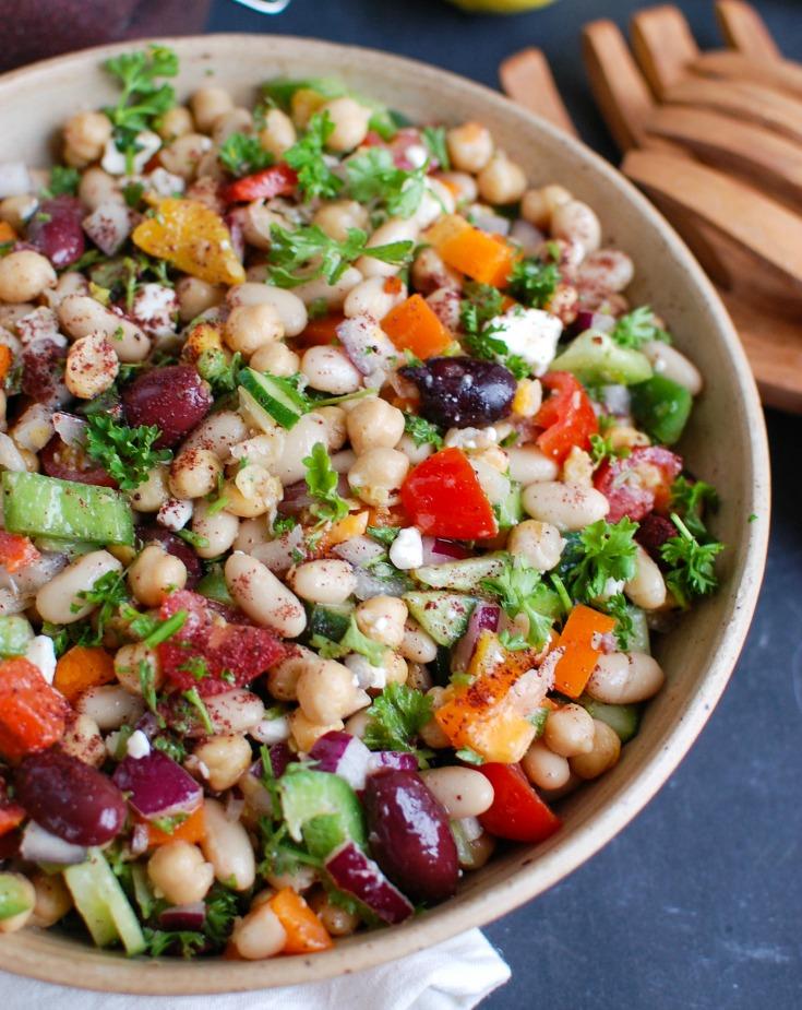 Mediterranean Bean Salad - A Cedar Spoon