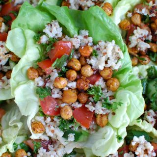Mediterranean Sorghum Tabbouleh and Chickpea Lettuce Wraps
