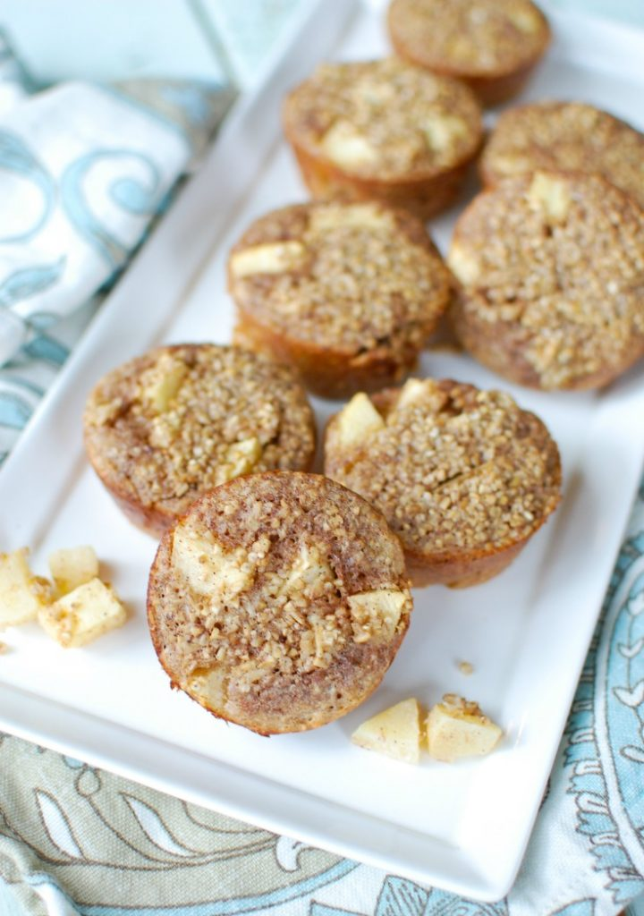 Baked Apple Cinnamon Steel Cut Oat Cups make an easy, make-ahead breakfast or snack that is heart healthy and filling. Steel cut oats are mixed together with Greek yogurt, applesauce, cinnamon and apples to create a delicious oatmeal cup.