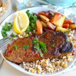Pan Seared Harissa New York Strip Steak
